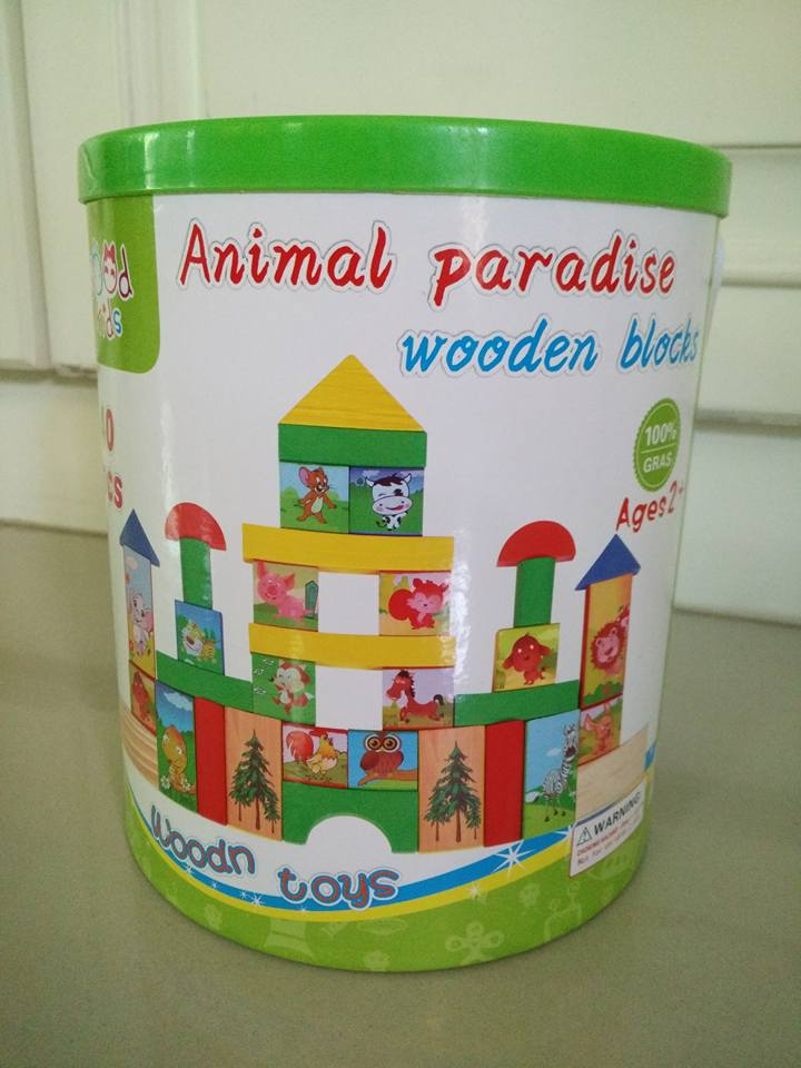 Animal Paradise Wooden Blocks 40 Pcs.