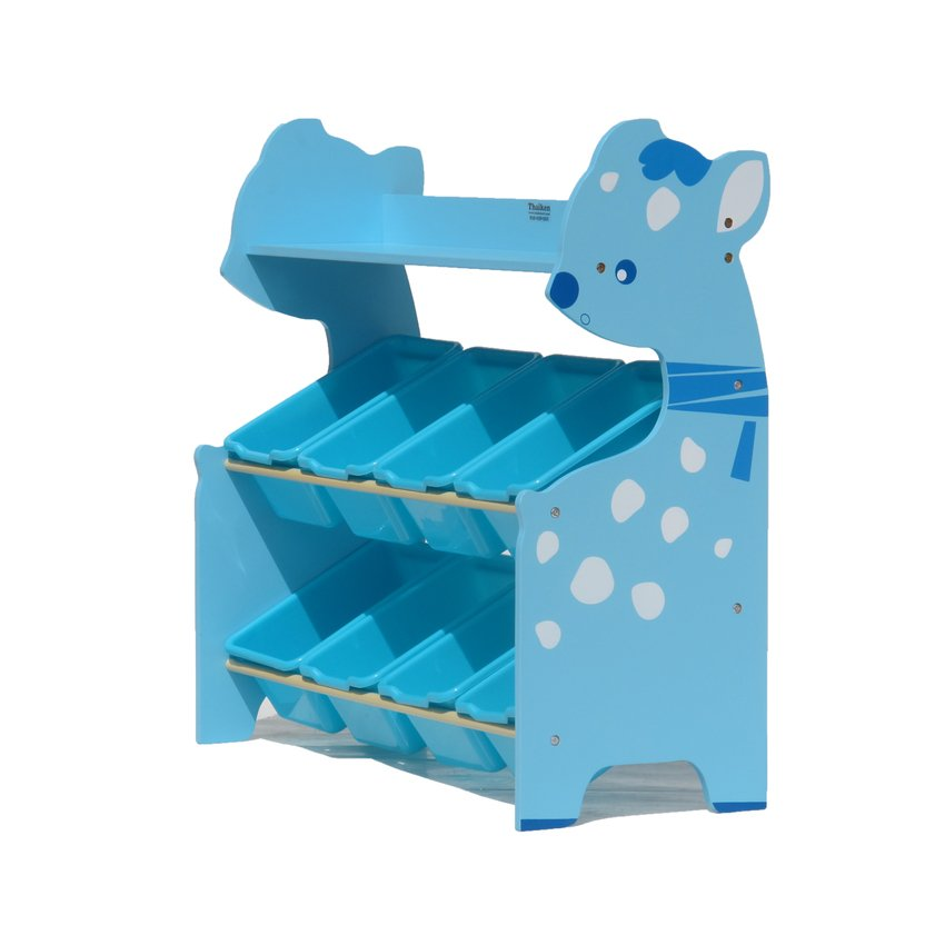 ส่งฟรี !! ชั้นเก็บของเล่นเด็กกวางน้อยสีฟ้า