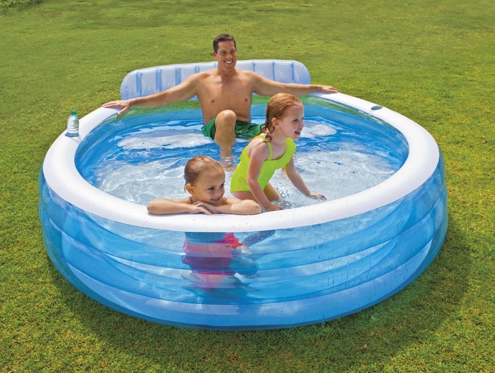 Lookmee Shop Swim Center Family Lounge สระน้ำครอบครัวกลมมีที่พิง ส่งฟรี!!