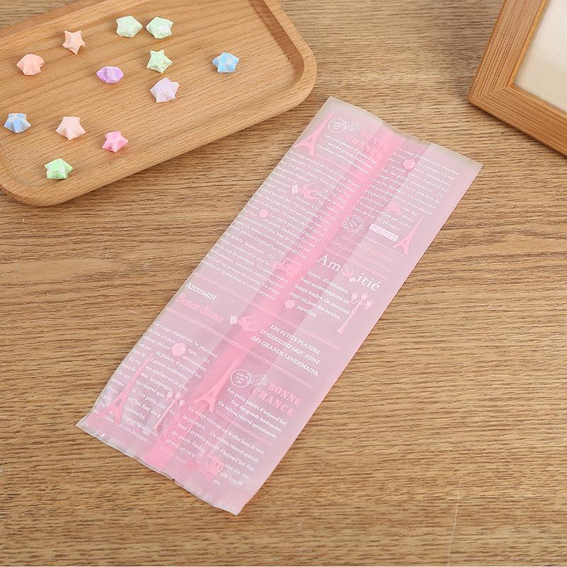 ถุงเบเกอรี่ ถุงขนม 100 ใบ/ห่อ (Size : 10*25+7 cm.)