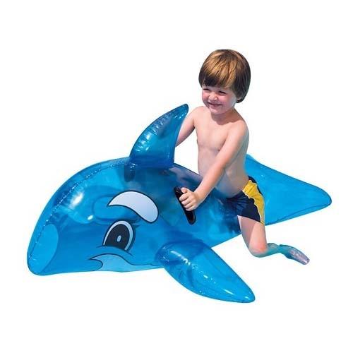 ปลาโลมา เป่าลม สีฟ้า ราคา 469 แถมสูบ + ส่งฟรี kerry !!