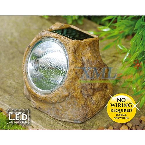หินโซล่าเซลล์ 3 LED (เเสง : ขาว)