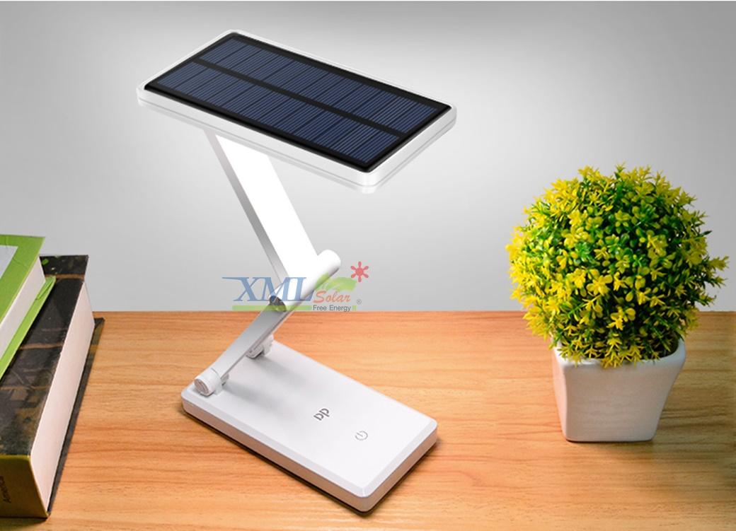 โคมไฟตั้งโต๊ะโซล่าเซลล์ 24 LED รุ่น พับได้อิสระ (V.2018)