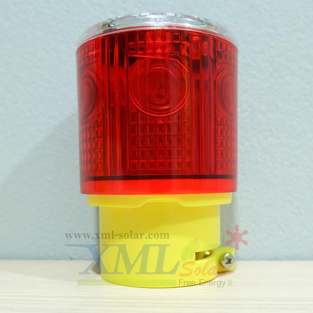 ไฟเตือนกรวยจราจร ฉุกเฉิน พลังงานเเสงอาทิตย์ (เเสง : สีเเดง)