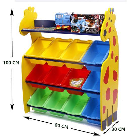 ชั้นวางของเล่นยีราฟ 4 ชั้น พร้อมกะบะ 12 ใบ ส่งฟรี !!!!