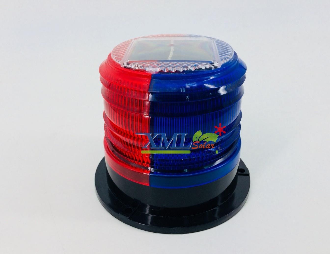 ไฟเตือนฉุกเฉินโซล่าเซลล์ + ฐานเเม่เหล็กในตัว (เเสง : สีเเดง+สีน้ำเงิน)