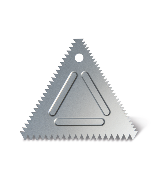 หวีแต่งเค้กอลูมิเนียม ทรงสามเหลี่ยม (นำเข้าเกาหลี)