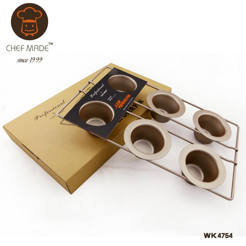 Chef Made แม่พิมพ์เค้ก ถ้วยมัฟฟิน เทฟล่อน 6 ช่อง (nonstick)