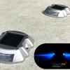 ไฟหมุดถนนโซล่าเซลล์ 6 LED รุ่น Robot (เเสง : ฟ้ากระพริบ)