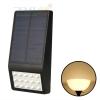 โคมไฟโซล่าเซลล์ ติดผนัง 15 SMD LED (ตัวแบน ดำ) (เเสง : เหลืองวอมไวท์)