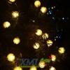 ไฟกระพริบโซล่าเซลล์ ทรงปุยหิมะ 30 ดวง (เเสง : เหลืองวอมไวท์)
