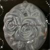 พิมพ์วุ้นปอนด์ ลายดอกกุหลาบคู่ 20cm ลายที่ 2034