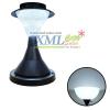 โคมไฟหัวเสาโซล่าเซลล์ ทรงกรวย ฐานดำ 32 LED (เเสง : ขาว)