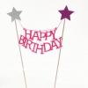ป้าย Happy Birth Day สีชมพู (ราคา/ชิ้น)