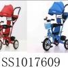 รถเข็นจักรยานสามล้อเด็กแบบมีหลังคาบังแดดและก้านเข็น 4in1