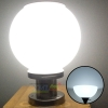 Post top solar light in circle shape with stainless steel base (White,25cm.)