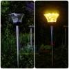 ไฟปักสนามโซล่าเซลล์ 8 Super SMD LED สูง 76.5 ซม. (เเสง : เหลืองวอมไวท์)