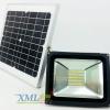 ไฟสปอตไลท์โซล่าเซลล์ 30 Watt รีโมทขาว (เเสง : เหลืองวอมไวท์)