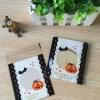 ถุงเบเกอรี่ ถุงขนมปัง แบบมีเทปกาว รูปฮัลโลวีน 100 ใบ/ห่อ (10*10+3 cm.)