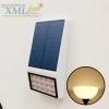 โคมไฟโซล่าเซลล์ ติดผนัง 15 SMD LED (ตัวแบน ขาว) (เเสง : เหลืองวอมไวท์)