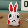 ถุงหูกระต่าย ถุงเบเกอรี่ ถุงขนมบิสกิต ถุงหูกระต่ายสีแดง 100 ใบ/ห่อ (Size : 13.5*22+6 cm.)