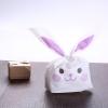ถุงหูกระต่าย ถุงเบเกอรี่ ถุงขนมบิสกิต กระต่ายน้อยน่ารัก สีม่วง 100 ใบ/ห่อ (Size : 13.5*22+6 cm.)