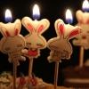 เทียนวันเกิด รูปกระต่าย 5 ชิ้น/แพ็ค