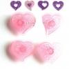 ที่พิมพ์ลายฟองดองท์ พิมพ์กดคุกกี้ รูปหัวใจ 4 ชิ้น/เซต