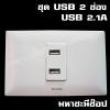 ชุด USB 2 ช่อง 2.1A ดีไซน์โค้งมน HACO