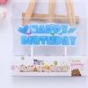 เทียนวันเกิด รูป HAPPY BIRTHDAY สีฟ้า