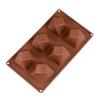 พิมพ์ซิลิโคน พิมพ์สบู่ รูปสี่เหลี่ยมบิด (90 G ± 5G)