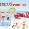 สระว่ายน้ำใสทรงสูง เสริมพัฒนาการ ขนาด 80x80 ซม.ครบเซ็ท แถม ห่วงยางสวมคอเกรดพรีเมี่ยม *** รุ่น Circus ส่งฟรี !!