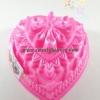 พิมพ์วุ้น สองชั้นรูปหัวใจ ลายดอกไม้ เบอร์ 10