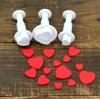 ที่พิมพ์ลายฟองดองท์ พิมพ์กดคุกกี้ รูปหัวใจ 3 ชิ้น/เซต
