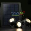 ไฟโซล่าเซลล์ส่องใต้น้ำ 3 ชุด 18 LED (เเสง : เหลืองวอมไวท์)