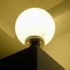 โคมไฟหัวเสา โซล่าเซลล์ ทรงกลม 35 cm. (เเสง: เหลืองวอมไวท์)
