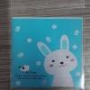 ถุงเบเกอรี่ ถุงขนมปัง แบบมีเทปกาว รูปกระต่าย สีฟ้า 100 ใบ/ห่อ (10*10+3 cm.)
