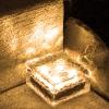 ก้อนน้ำเเข็งโซล่าเซลล์ 4 LED (เเสง : เหลืองวอมไวท์)