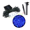 Waterproof solar panel powered 100 LED string light for outdoor decoration (Blue)
