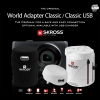 Premium Grade หัวแปลงเดินทาง SKROSS World Travel Adapter USB ของแท้ (สีขาว)
