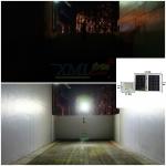 ไฟสปอตไลท์โซล่าเซลล์ 180 LED โคมเทา (เเสง : ขาว)