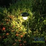 ไฟปักสนามโซล่าเซลล์ 8 Super SMD LED (แบบกลม) สูง 80 ซม. (เเสง : เหลืองวอมไวท์)