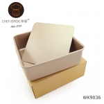 Chef Made แม่พิมพ์เค้ก เทฟล่อน สีทอง ถอดก้นได้ สี่เหลี่ยม 8.5 นิ้ว