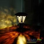 โคมไฟหัวเสาโซล่าเซลล์ สีน้ำตาล (อะลูมิเนียม) (เเสง : เหลืองวอมไวท์)(XML-H14y)