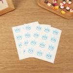 สติ๊กเกอร์ติดปากถุง รูปหมี สีฟ้า 12 ชิ้น/แผ่น