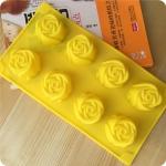 พิมพ์ซิลิโคน รูปดอกกุหลาบ 8 ช่อง