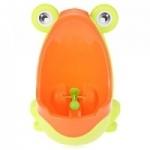 โถปัสสาวะเด็กชายรูปกบมีใบพัด สีส้มเขียวสดใส
