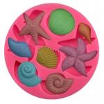 ซิลิโคนสำหรับทำฟองดองท์ กัมเพส รูปหอยทะเล