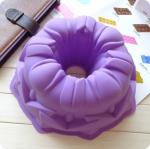พิมพ์ซิลิโคน รูปวงกลมดอกทิวลิป 8 นิ้ว