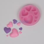 โมล พิมพ์ซิลิโคน รูปหัวใจ 8 ช่อง